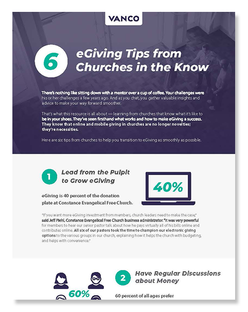 eGiving Guide: 6 eGiving Tips from Churches in the Know Cover