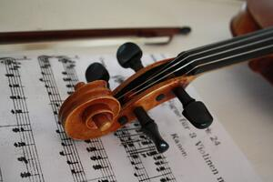 Violin & Music Sheet - Music Education Benefits