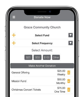 GivePlus Church Giving App on Phone