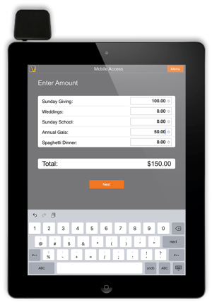 GivePlus Credit Card Swipe for Churches