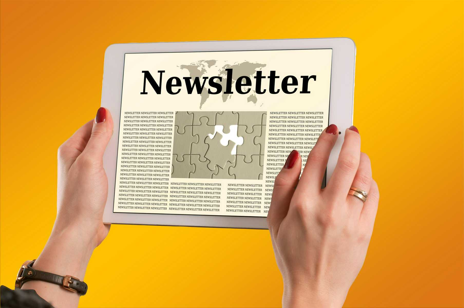 Church Newsletter on a Tablet - Ideas Blog
