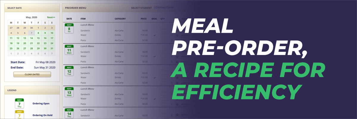 Meal Pre-Order, A Recipe for Efficiency