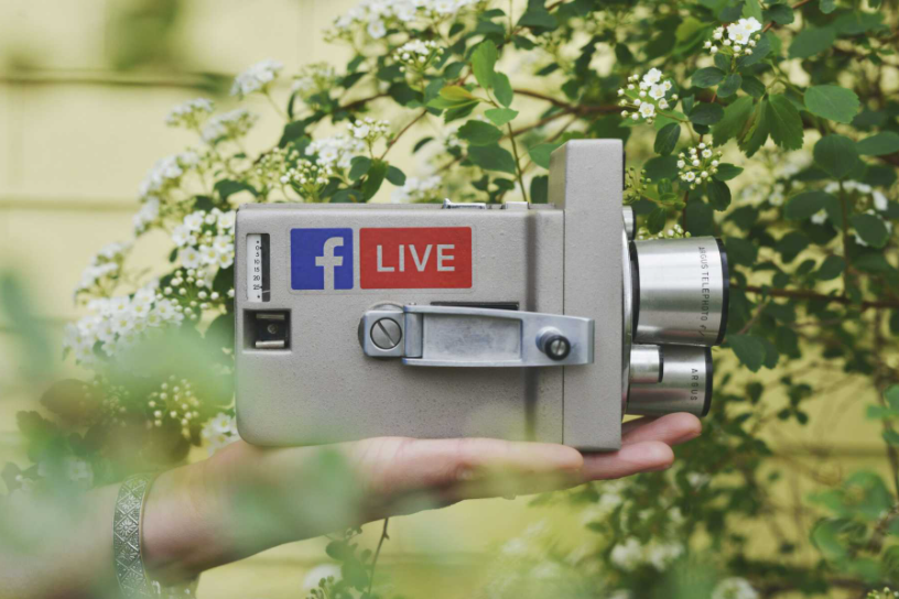 Old Camera with Facebook & Live Sticker - Church Guide Blog