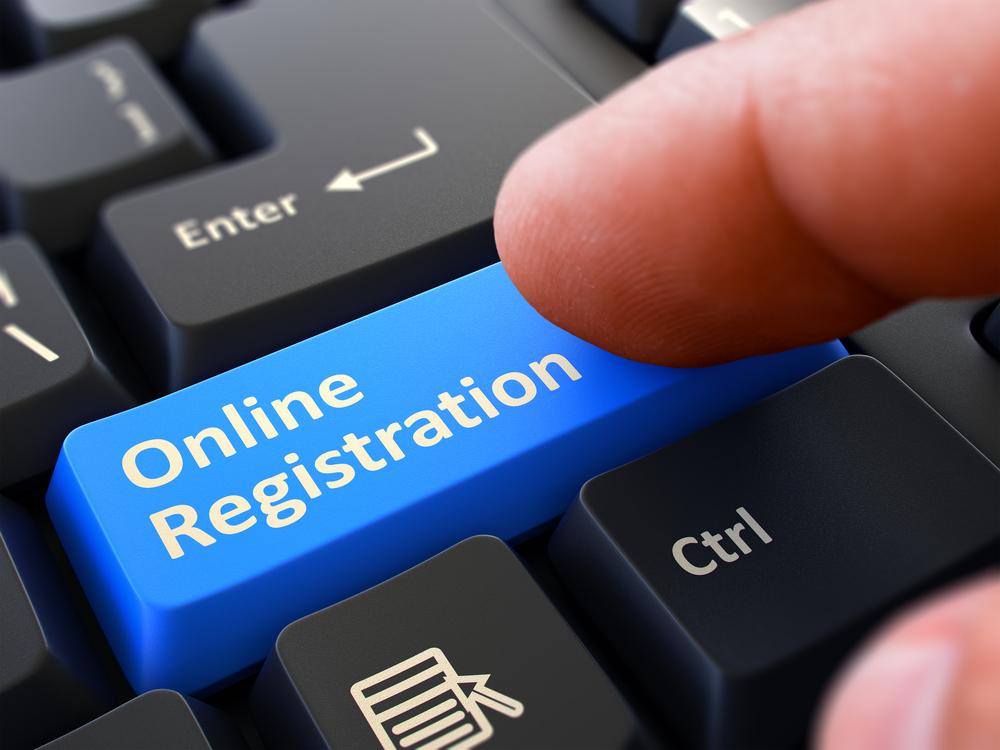 Online Registration Written on the Keyboard - Schools