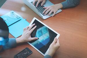 tablet for secure education payments