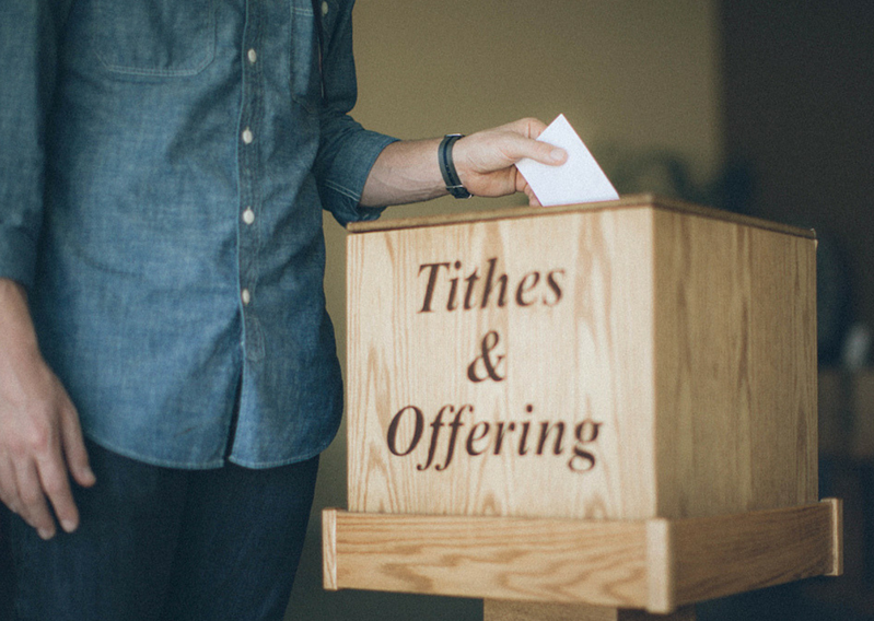 Tithes & Offerings Wood Bin-How to Blog